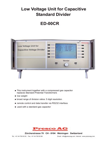 ED-00CR - Low Voltage Unit for Capacitive Standard Divider