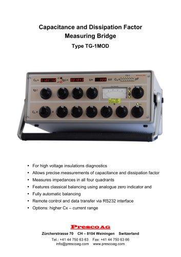 TG-1MOD  - Capacitance and Dissipation Factor  Measuring Bridge