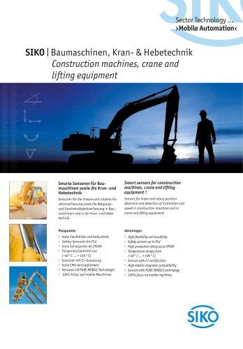 Construction machines, crane and lifting equipment