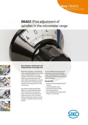 DKA02   Fine adjustment of spindles in the micrometer range
