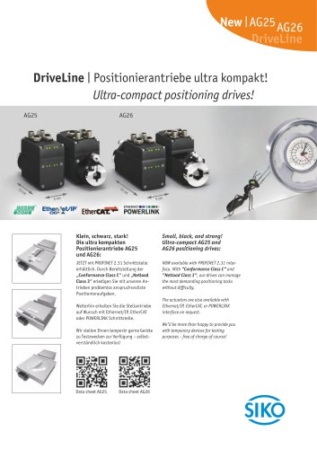 DriveLine   Ultra-compact positioning drives!