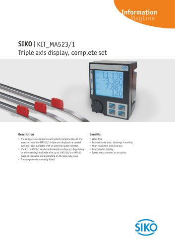 MagLine   Triple axis display, complete set