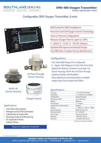 EMD-485 OEM Oxygen Transmitter