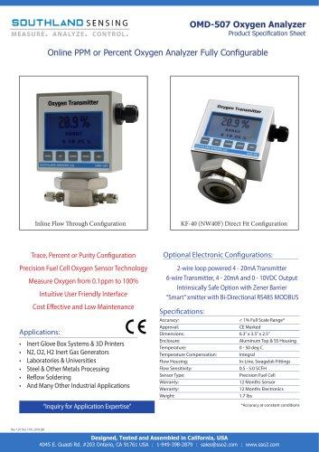 OMD-507 Oxygen Transmitter CE Marked