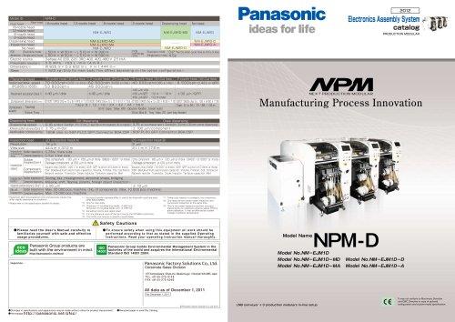 NPM - Panasonic Factory Automation Company - PDF Catalogs