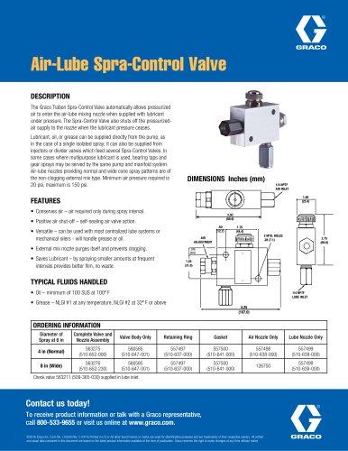 Air-Lube Spra-Control Valve