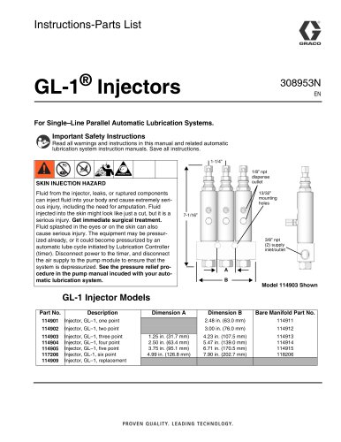 GL-1 Series Grease Injectors
