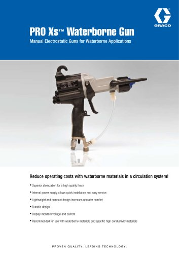 PRO Xs™ Waterborne Gun Manual Electrostatic Guns for Waterborne Applications