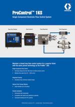 ProControl 1KS, Single Component Electronic Flow Control System