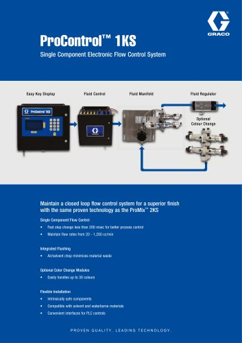 ProControl 1KS, Single Component Electronic Flow Control System