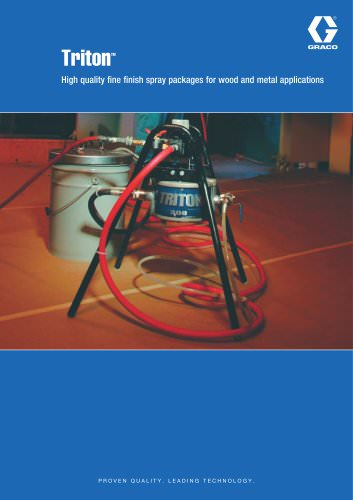 TritonTM High quality fine finish spray packages for wood and metal applications