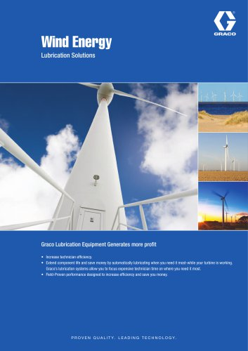 Wind Energy Lubrication Solutions
