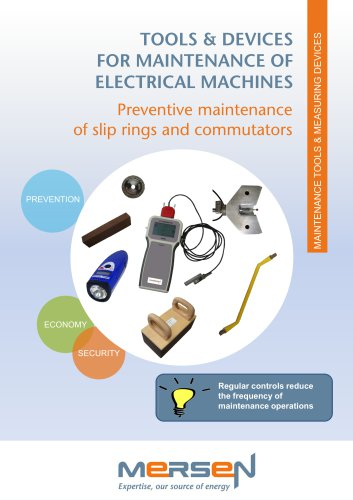 2)Tools & devices for maintenance of electrical machines