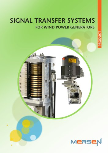 4)Signal transfer systems for wind power generators