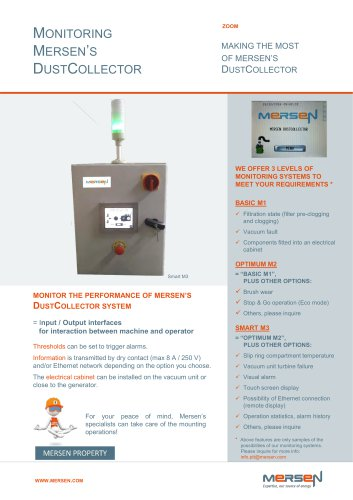 Monitoring Mersen's DustCollector