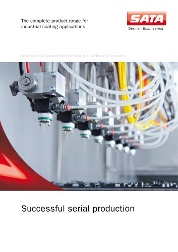 Successful serial production - The complete product range for industrial coating applications