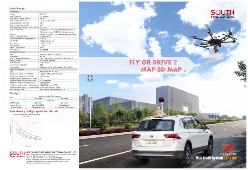 SOUTH--Mini LiDAR SYSTEM V100, SUV-based/UAV-based
