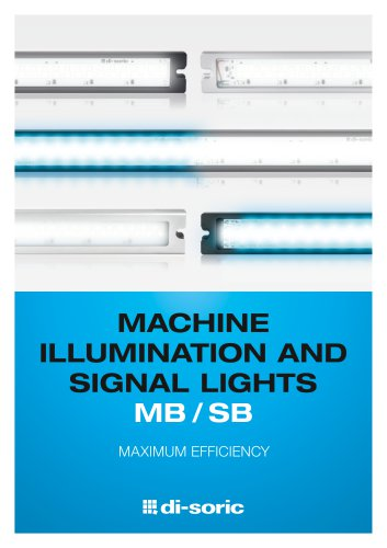 MACHINE ILLUMINATION AND SIGNAL LIGHTS MB / SB