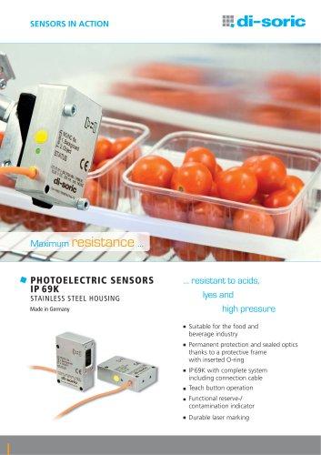 Photoelectric sensors, IP 69K
