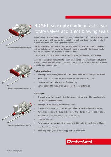 HDMF and BSMF valves