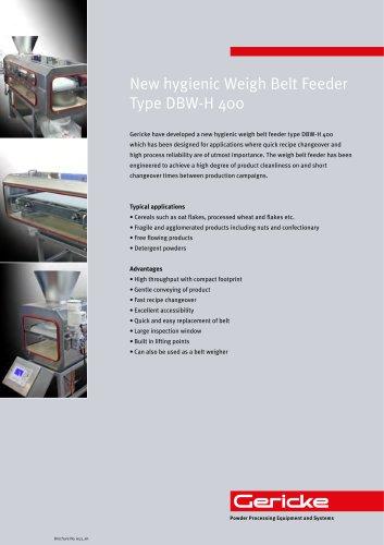 Hygienic Belt Weigh Feeder DBW-H 400