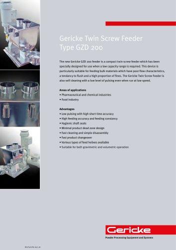Hygienic twin screw feeder