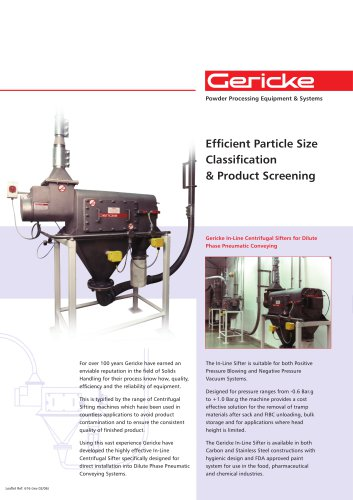 In-line sifter