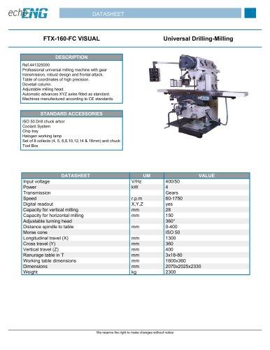 FTX-160-FC VISUAL