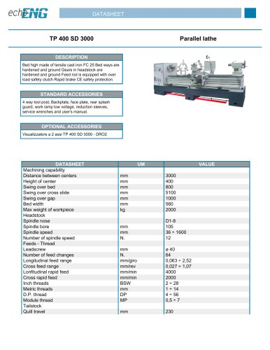 TP 400 SD 3000