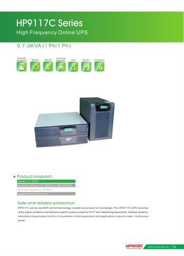 High Frequency Online UPS HP9117C 0 7-3KVA - shenzhen SORO