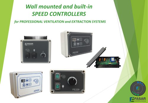 Built-in controllers for professional suction systems
