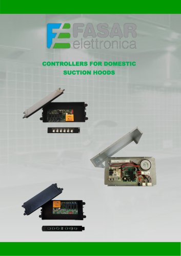 Controllers for domestic suction hoods