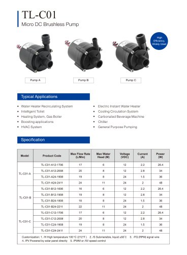 C01 Centrifugal water Pump