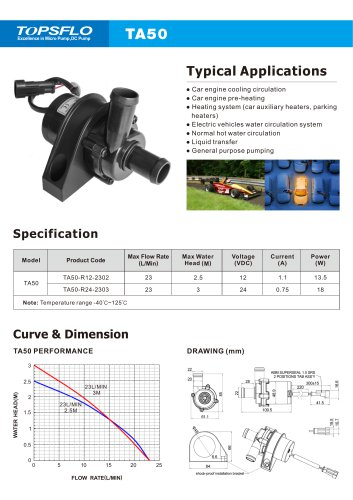 High quality micro dc brushless centrifugal circulation 12v 24v electric water pump