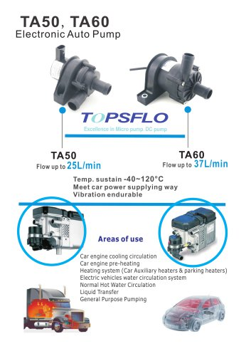 TA50,TA60 Electric car water circulation pump