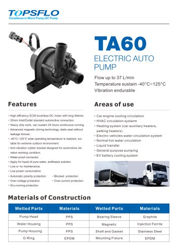 TA60- Car Pump Electronic Auto Pump