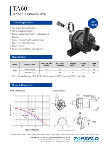 TA60 Electric Auto Circulation Pump
