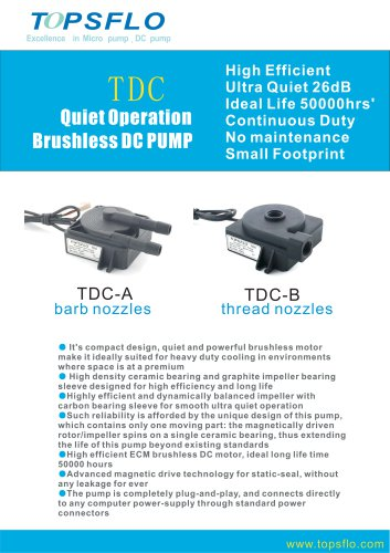 TDC QUIET MINI DC PUMP