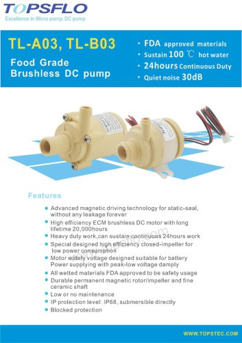 TL-A03,B03 Specializing FDA Food Pump