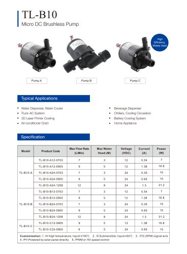 TL-B10 HOT WATER PUMP