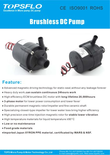 TL-C01  Brushless dc water pump/mini pump