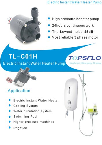 TL-C01H Electric Instant Water Heater Pump