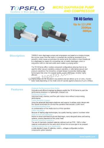 TM40 diaphragm vacuum pump