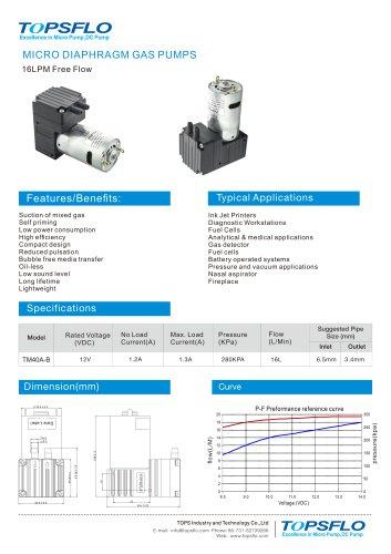 TM40A-B Daiphragm gas pump