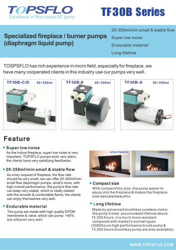 TOPSFLO Diaphragm  fireplace PUMP  burner pumps