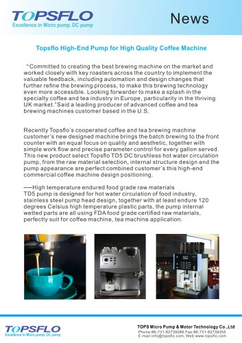 Topsflo High-End Pump for High Quality Coffee Machine