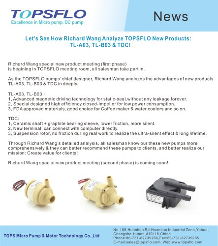 TOPSFLO New Products A03 B03 TDC