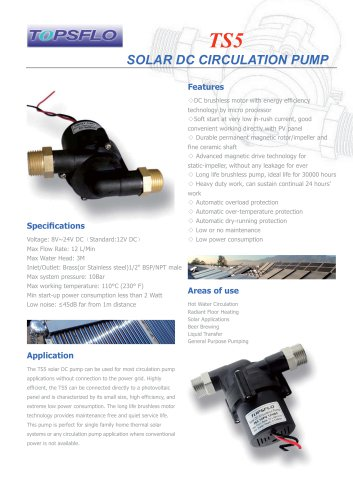 TS5 solar dc circulation pump