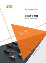 Carbide inserts 2018 catalog