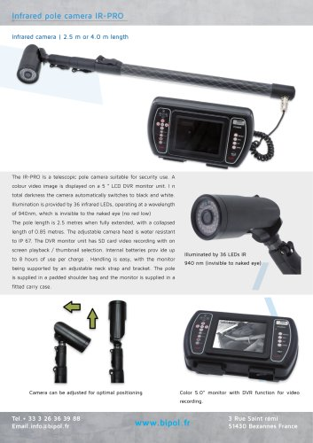 Infrared pole camera IR-PRO